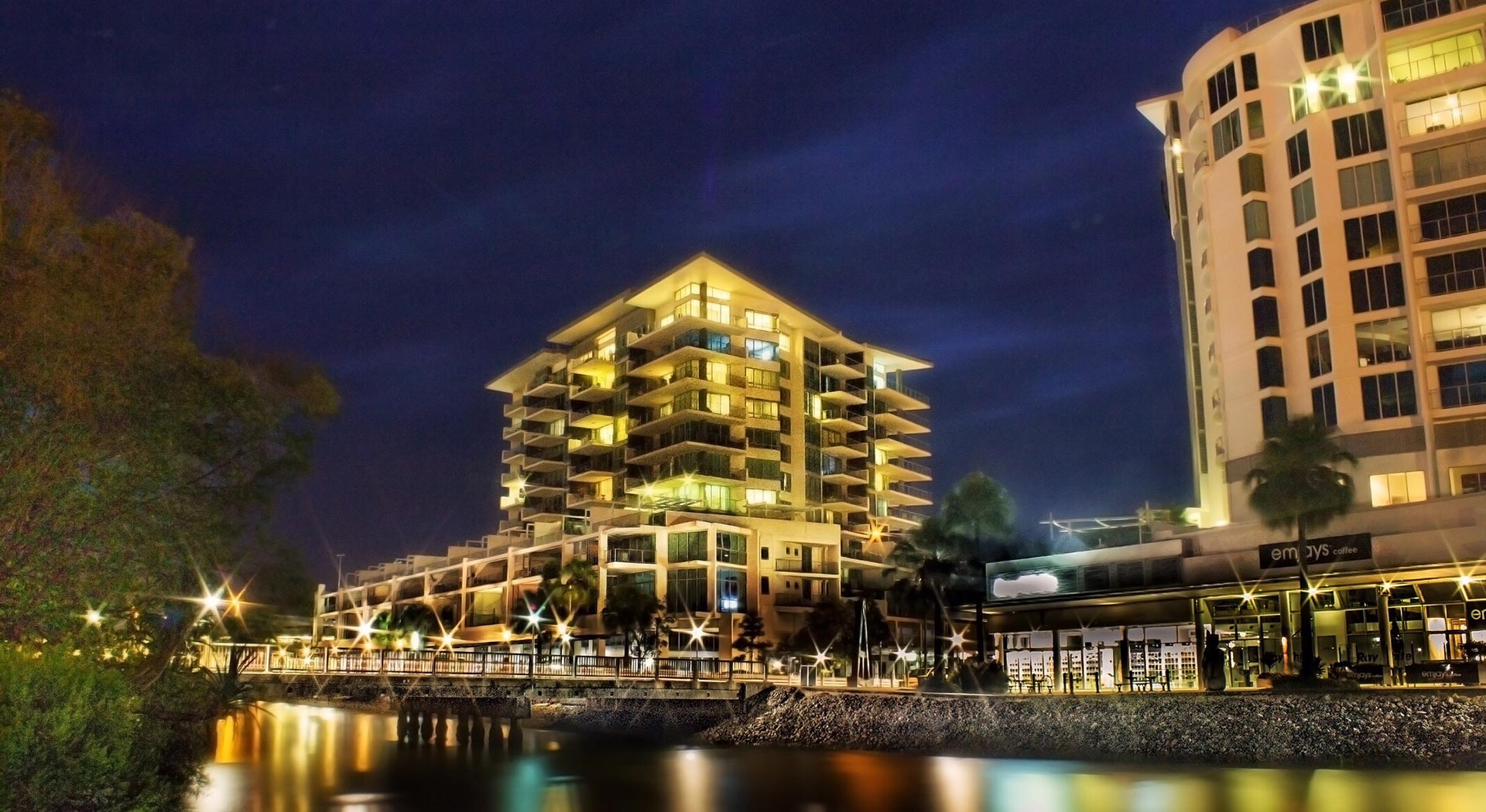 night time view of Maroochydore