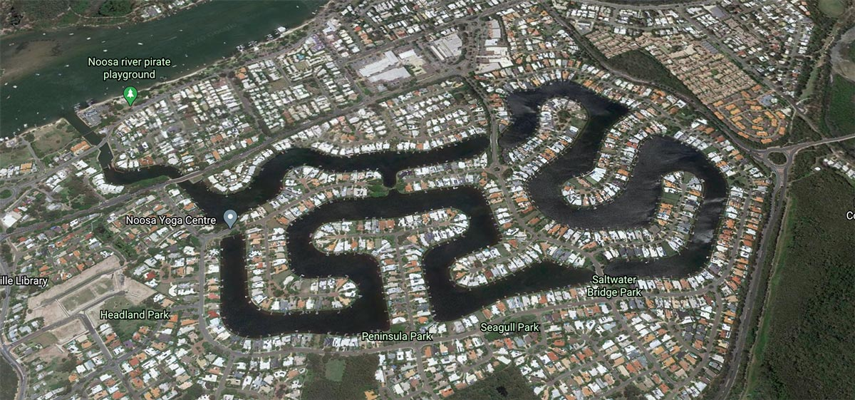 Noosa Waters Legion Fibre Network Map